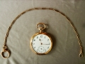 Longines vintage 1902 gold pocket watch w/ 14k solid gold chain s/n: 2'088'288