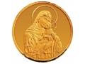 Златен медал света богородица с младенеца