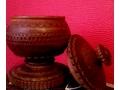 100-годишен дървен пирографиран съд ръчна изработка