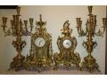 Френски бронзови антични свещници и часовници от края на 19 век